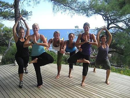 Veronika auf Yogareise